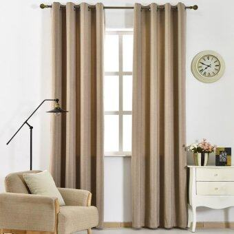 Harga 2 PCS 150X250 Modern shade blackout drapes window made drape hotel curtain ready solid full room Brown