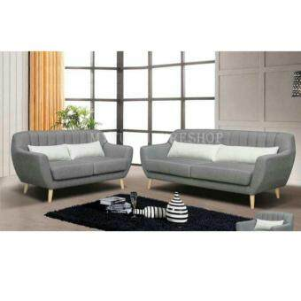Harga Kendy 2+3 Fabric Sofa Set with Wooden Legs