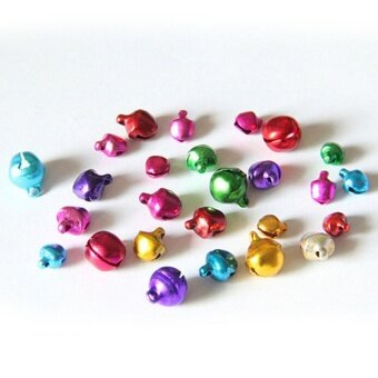 Harga 100pcs Colorful Small Jingle Bell Findings Mixed Color 6mm/8mm/10mm Sew On Craft 6mm