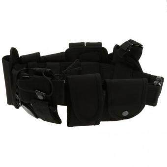 Harga MagiDeal Utility Belt Waist Bag Security Police Guard Kit with Radio Holster Pouch