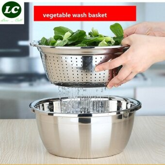 Harga mixing bowl leak bowl 2pcs set stainless steel kitchen utensil