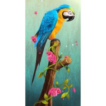 Harga KUNPENG 5D DIY diamond Painting Parrot Diamonds Wall Stickers (Intl)