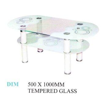 Harga MRS DIY COFFEE TABLE GLASS (WHITE)