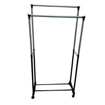 Harga Harmoni Double Rail Garment Clothing Rack for Rolling Hanging Rack for Clothes - 1163