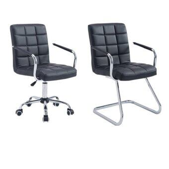 Harga Twin Package - Fully Assembly Stylish Comfort Leather Office Chair - Swivel & Z Leg Design