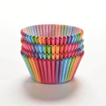 Harga Rainbow Color 100Pcs Cupcake Liner Baking Cup Cupcake Paper Muffin Cases Cake Box Cup Tray Cake Mold Decorating Tools