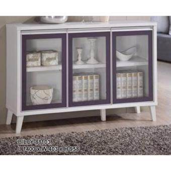Harga SG TAN 3 Door Display cabinet - White Color + Purple Color