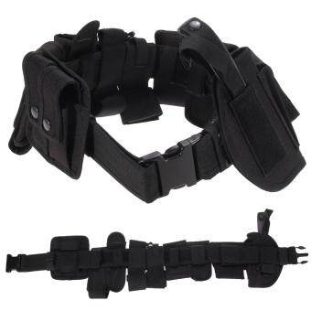 Harga Outdoor Multifunction Tactical Belt Security Police Guard Utility Kit Nylon