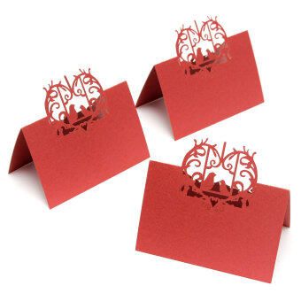 Harga 10pcs Loving Birds Laser Cut Wedding Party Table Name Place Cards Favor Decor