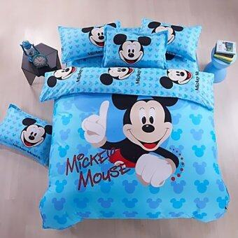 Harga Cartoon Bed Sheet Miki Blue