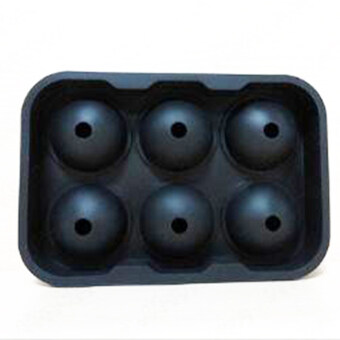 Harga Vinmax Whiskey Silicone Ice Cube Ball Maker Mold Sphere Mould Party Tray Round Bar - Black
