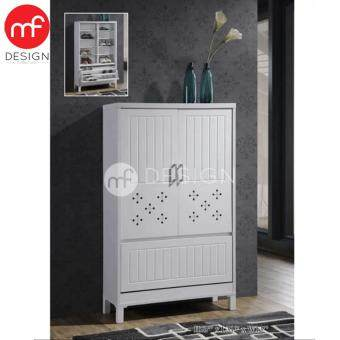 Harga MF DESIGN TORRI SHOE CABINET (WHITE)
