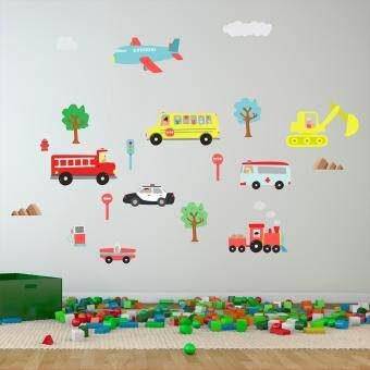 Harga Walplus Happy Cars Wall Stickers
