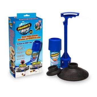 Harga Plumber's Hero Drain Unclogging Kit 20 Uses in Every Can As Seen On TV