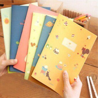 Harga 5PCS/lot New Hot Little Girl Cute Animal Notepad School Office Stationery Note Book U179