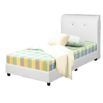 Harga Nico PU Leather Divan Single Bed 3 feet (WHITE)