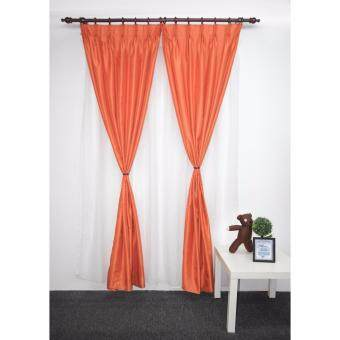 Harga Ready made Silk French Pleat Curtain (1 panel)