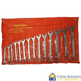 Harga Diamond SP14 14pcs Chrome Combination Spanner Set (8mm - 24mm)