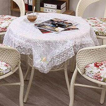 Harga France Style White Lace Tablecloth
