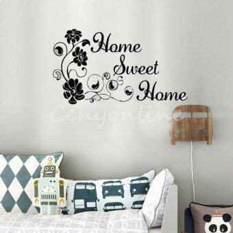 Harga Home Sweet Home Flowers Wall Stickers Removeable Home Art Mural Decal Decor