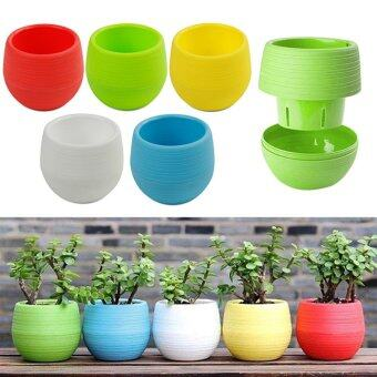 Harga High Service 20PCS Plastic Pots With Drainage Hole Flower Bucket Balcony Planter Colorful Garden Home Ornaments