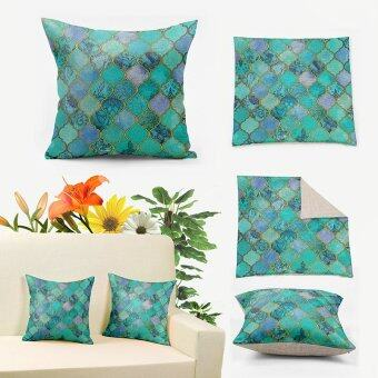 Harga Retro Morocco Pillow Case,Jade Mint Tribal Pillows,Decorative Pillows for Couch,Cheap Pillow Covers 45x45cm,Throw Pillow Covers Sofa,Cotton Linen Cushion Covers Pillowcase,Beach Bedroom Home Decor Pillow Case D313