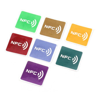 Harga OH 7pcs Multicolor Square NFC Tags Stickers Lables For NFC-enabled Device Multicolor