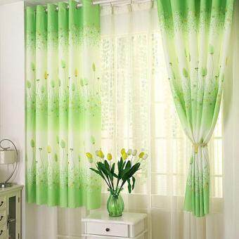 Harga coconie Feather Calico Finished Product Cloth Window Screens Curtain