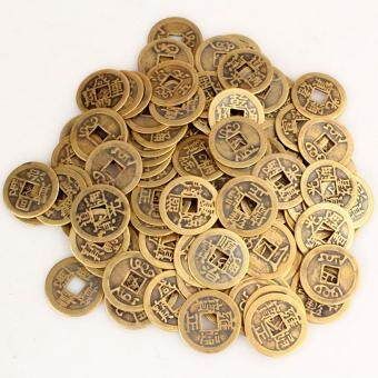 Harga niceEshop 50pcs Authentic Ancient Chinese Coins Qing Dynasty Feng Shui Purpose Fortune Copper Coin, Random Mixed 2.3cm/1inch