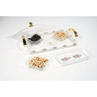 Harga Acrylic Tray with 5 Compartment