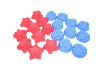 Harga 10pcs Rose Style Jelly Mould and 10pcs Star Style Jelly Mould