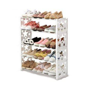 Harga NNC SH7105 Simple Shoes Rack 5 Tier- White