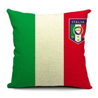 Harga Italy World Cup Flags Printed Pillow Cover (Multicolor)