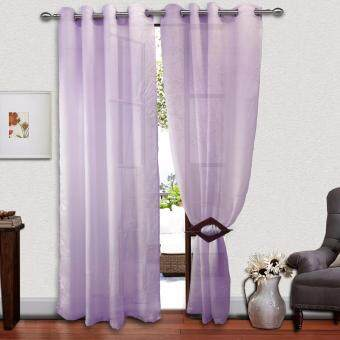 Harga 2 PIECES : Cozzi Eyelet Day Curtain 140cm(W) x 260cm(L) - FREESTYLE LAVENDER(Fit window/sliding door up to 250cm width)