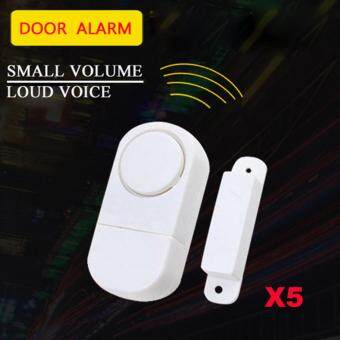 Harga Wireless Home Security Alarm Systems Door Window Entry Burglar Alarm Safety Security Pack of 5pcs