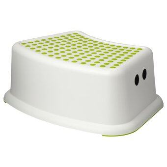 Harga IKEA 602.484.18 Forsiktig Children's Stool, (Green/White)