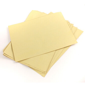 Harga A4 Self Adhesive printing Print Copier Brown Kraft Paper Sticker Art Sheets 10 Pcs