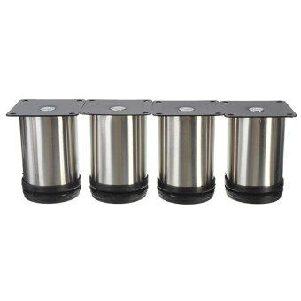 Harga Vinmax 4Pcs Stainless Steel Furniture Cabinet Legs Adjustable Sofa TV Bed Shelf Feet Round Stand Holder 8*5cm