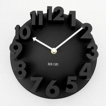Harga 2PCS 3D Number Dome Round Wall Clock Watch Bell Home Modern Art Decor Black