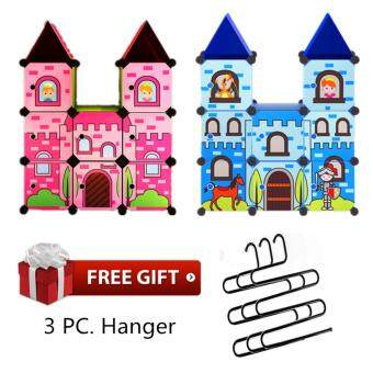 Harga Home & Living: Fairy Tale Stackable Castle Kids Wardrobe for Princess & Prince with Free 3pcs. S - Shaped Hanger