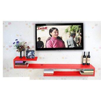 Harga Home & Living: S-Shape Wall Mounted TV Display Shelf (120cm x 24cm) - Red