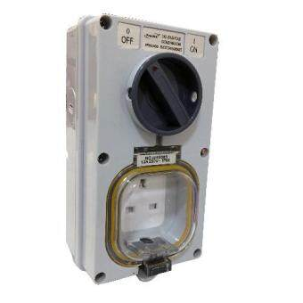 Harga PROSMK OUTDOOR IP66 WEATHERPROOF COMBINATION SWITCHED SOCKET