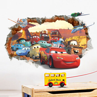 Harga GETEK Cars Lightning McQueen Mater Nursery Kids Room Wall Sticker(Multicolor)