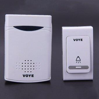 Harga V006B Digital Wireless Door Bell With 38 Polyphony Tunes Songs LED Remote Control Digital Doorbell - White