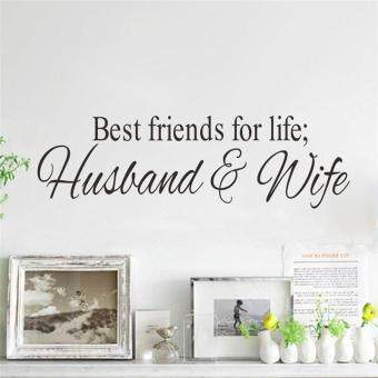 Harga Best Friends for Life Husband and Wife Quotes Living Room Wall Stickers Bedroom Mural Art Posters Vinyl Decals