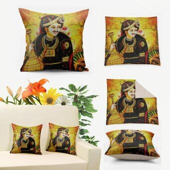Harga Indian Prince Black and Yellow 3D Printing Vintage Linen Pillows Cushion Covers,Anime Decorative Throw Pillow Case Z999