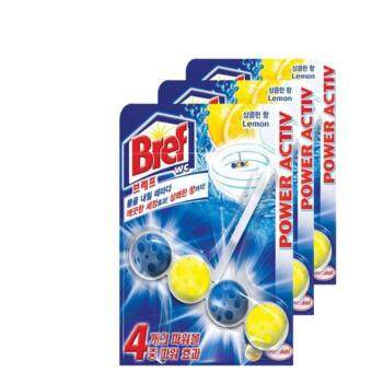 Harga Bref by Henkel New Concept Toilet Power Cleaner 4 Power Active lemon 3 Pcs