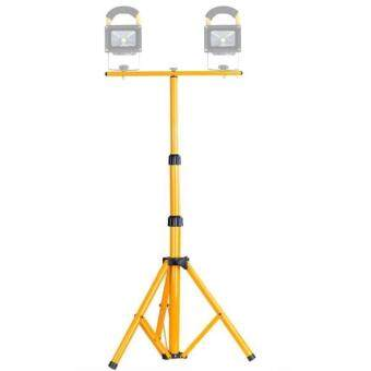 Harga LED Flood Light Lamp Work Emergency Lamp Tripod Stand, LED Flood Light Not Included, Adjustable Maximum Height: About 150cm(Yellow)