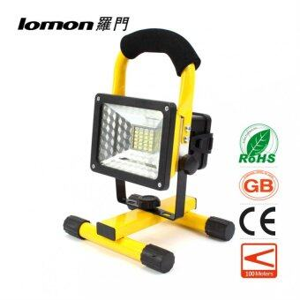 Harga 24 LED Flood Lights Portable Work Light Rechargeable Flood Spot Camping Hiking Lamp Outdoor Handle Emergency Flashlight 3 Modes Color Change