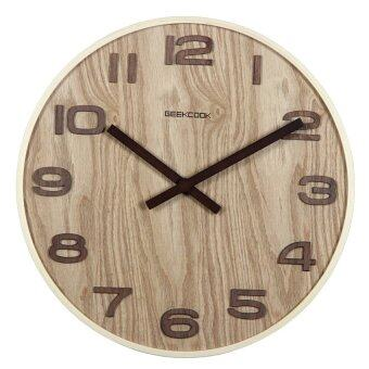 Harga Luxurious Wall Clocks Living Room Decorative 35cm GK100054(Wooden)
